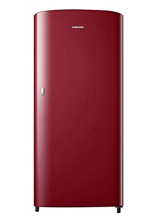 Samsung 192 L 1 Star Direct Cool Single Door Refrigerator  RR19T21CARH/NL, Scarlet Red  Refrigerators