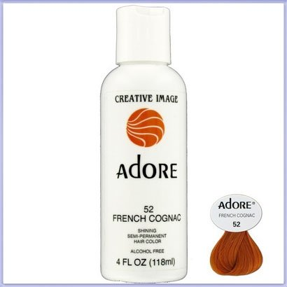 French Cognac - RINSE OUT SEMI-PERMANENT HAIR COLOUR FRENCH COGNAC(52) 118ML by Adore