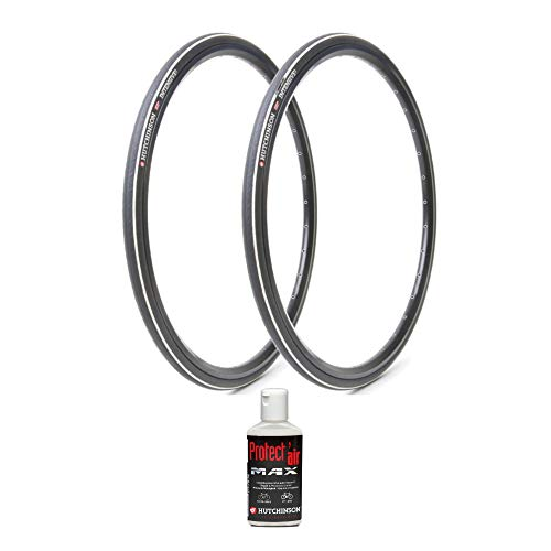 Hutchinson Intensive 2 700x28 Tubeless Ready Black Bike Tires, 2-Pack (700cm x 28/30) with Protect Air Puncture Prevention Sealant Kit