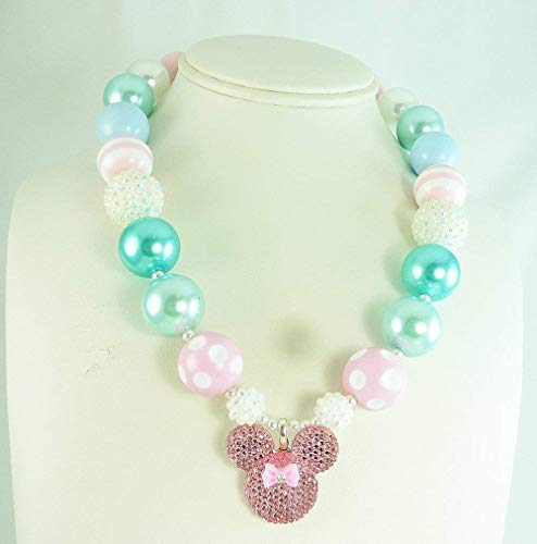 Bubblegum Necklace, Pastel Chunky Beaded Neck wear,