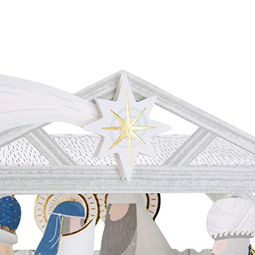 Christmas Card Scene Nativity (Hallmark 25501735 Luxury Pop Up Christmas Card Pack