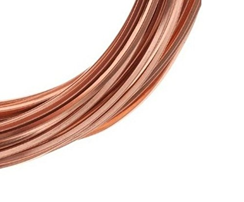 - Modern Findings(TM) 20 Ga Square Copper Wire 25 Ft (Dead Soft) Coil