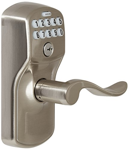 Schlage FE595PLY619ACC Plymouth Keypad with Accent Lever, Satin Nickel by Schlage Lock Company