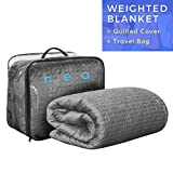 Benefits of the NEA Weighted Blanket: Weighted blankets can help reduce stress and anxiety caused from lack of sleep. Engineered to be around 10% of your body weight, our blankets help relax the nervous system by simulating the feeling of being held ...