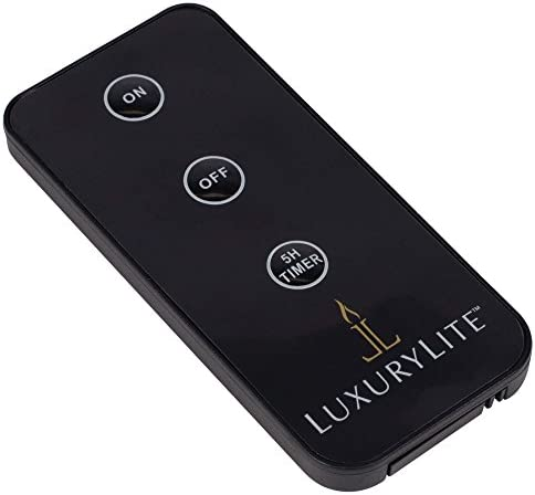 LuxuryLite Candle Matte Black 1.5 x 3.75 Resin Stone Handheld Remote Control