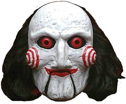 Mens Ladies Deluxe Billy Puppet SAW Scary Halloween Horror Movie Cosplay Convention Fancy Dress Costume Outfit Mask -