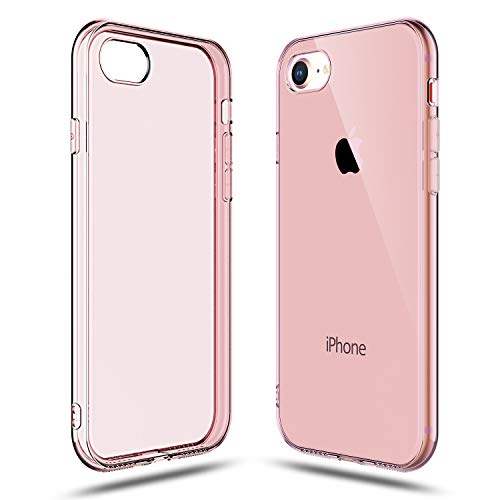Clear Pink Case - Shamo's Transparent Shock Absorption TPU Rubber Gel Case (Pink) Compatible with iPhone 7 and iPhone 8