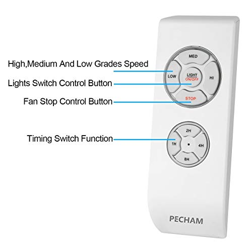 PECHAM Universal Lamp Kit & Timing Wireless Remote Control for Ceiling Fan, Scope of Application [Home/Office/Hotel/The Club/Display Hall/Restaurant] by PECHAM (Image #2)