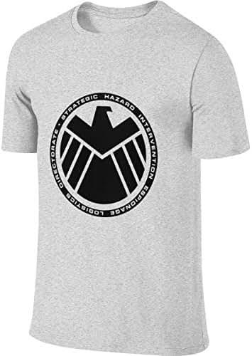 SHENGN Mens Custom Humor Tee Shirt Agents of Shield Logo T Shirt