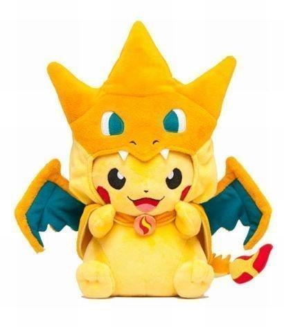Peluche de Pokemon Pikachu Sonriendo con Traje de Charizard ...