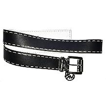 MICHAEL Michael Kors Women's 38mm Belt w/ Self Wrapped Buckle Black Belt MD