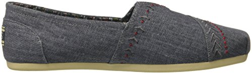 Skechers Bobs Womens Plush-feather Flat Blue