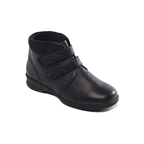 Padders Women's Boot 'Kathy' | Plus+ Range For Extra Width & Depth | Dual Fit System | Ultra Wide 4E-6E | 30mm Heel | Free Footcare UK Shoe Horn Navy Combi LxphI78