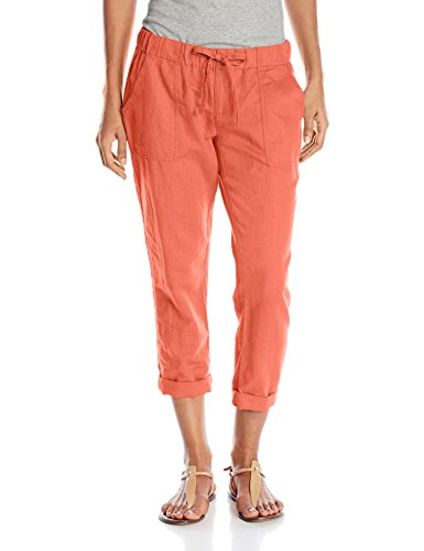 Linen Capris (Columbia Women's Coastal Escape Capri Pant, Lychee, Small)