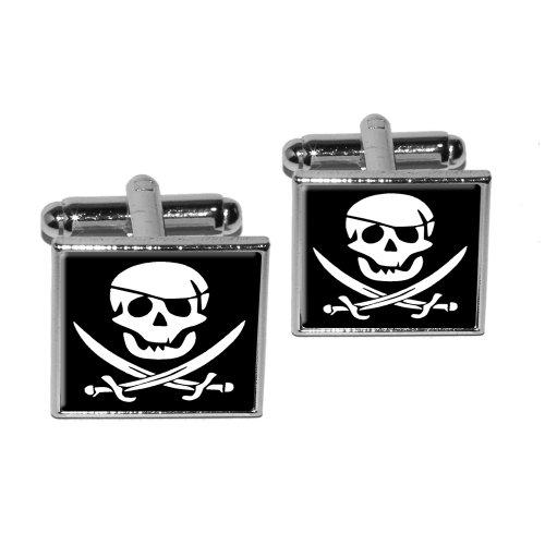 Pirate Skull Crossed Swords Cufflink