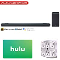 LG SK9Y 5.1.2-Channel Hi-Res Audio Soundbar w/Dolby Atmos + $50 Hulu Plus Gift Card + SurgePro 6 NT 750 Joule 6-Outlet Surge Adapter with Night Light + 1 Year Extended Warranty
