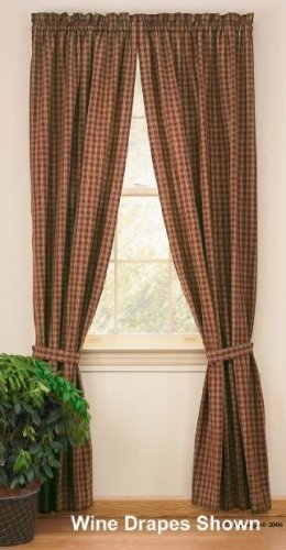 Sturbridge Country Wine Panel Curtains - Outlet Curtains Country