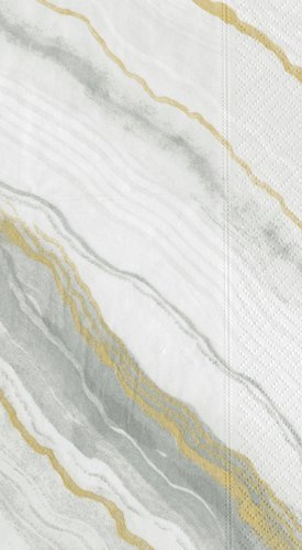 Guest Towels Paper Hand Towels Bathroom Decor Party Supplies Gray Marble Pk 30 by Caspari