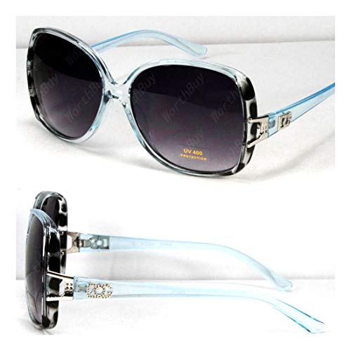 - DG Retro Vintage Womens Designer Sunglasses Shades Fashion Blue Black Square