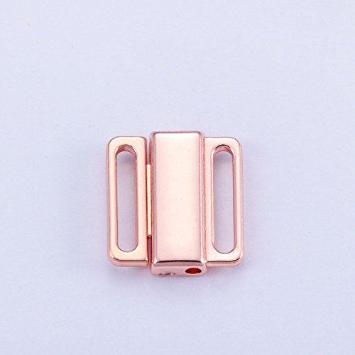 20Pcs/lot 12mm Craft Rose Gold Metal Rectangle Tape Closure Hook & Clasp Waist Extenders Sewing On Clothes Bra Clip Hooks Zhongpai