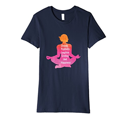 Women's Choose Happiness Laughter Yoga Women's T-Shirt Large Navy