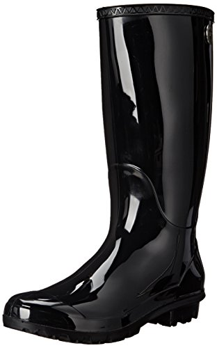 UGG Women's Shaye Rain Boot, Black, 8 B US ()
