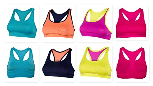 Womens Arroyo Short (Super Premium Sports Bra - Assorted Colors and Styles (Large- 4 Pack, SPB22))