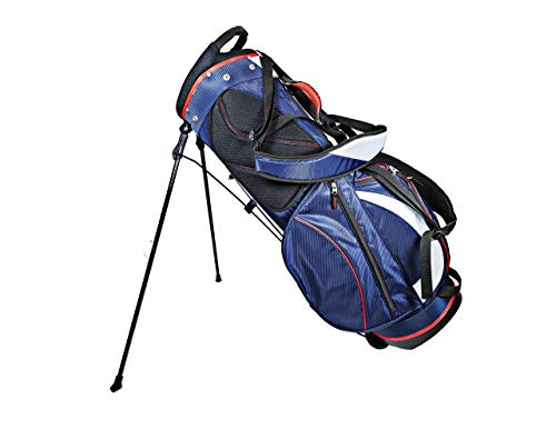 Club Champ Deluxe Stand Golf Bag, Red/White/Blue (Renewed) ()