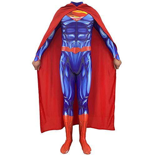 PIAOL Justice League Superman Costume Cosplay Children Adult Costume Ball Halloween Stage Performance -