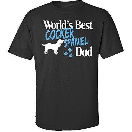 Cocker Spaniel World's Best Dog Dad, Pet Owner - Adult Shirt L Black ()