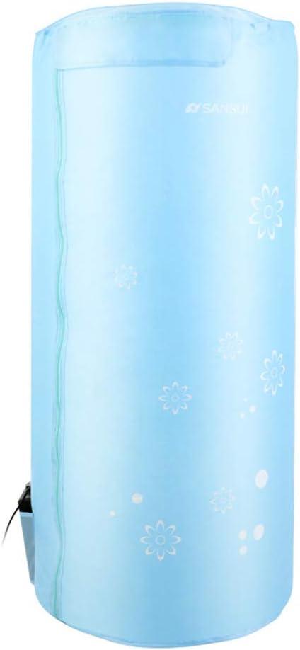 GUORHGJ Secadora de Ropa Pequeño, Ahorro de energía eléctrica Viajes Plegables Programación PTC Calefacción 10 kg Carga de cojinete con Polvo Cubierta de Tela