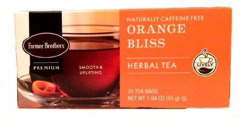 - Farmer Brothers Orange Bliss Herbal Tea- Caffeine Free, 25 bags