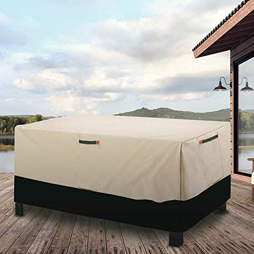 Umbrauto Extra Large Patio Furniture Covers Outdoor Table Cover Rectangle Furniture Set Covers Waterproof Windproof Tear Resistant (113Lx76Wx28H inch)