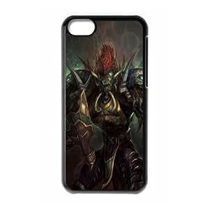 World Of Warcraft 3 Case iPhone 5C caso de la cubierta del tel¨¦fono celular Negro Cubierta EVAXLKNBC01167