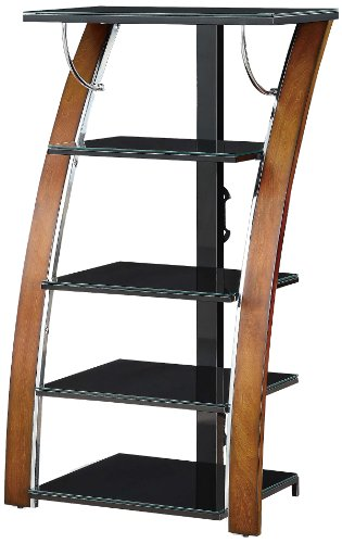 Whalen Furniture AVTEC48-TC High Audio Video Tower, 48-Inch - Cherry Media Center