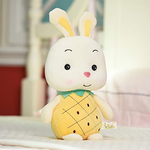 35 Cm Ananas - Kaninchen DONGER Weiche Erdbeerfrucht Hase Puppe Ananas Schwein Puppe Kissen Spielzeug, Weibliche Geburtstagsgeschenk, Ananas - Kaninchen, 35 cm Zu Senden