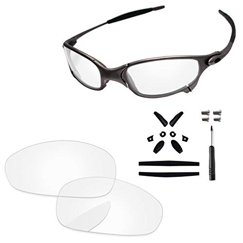 Juliette Crystal - PapaViva Lenses Replacement & Rubber Kits for Oakley Juliet Crystal Clear