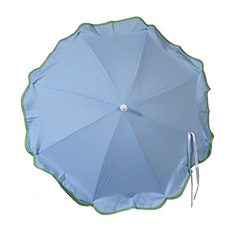 SOMBRILLA carrito bebe AZUL. Alegre y bonito parasol muy fácil de acoplar al carrito, incluye Flexo para orientar facimente y protegerle del sol. sombrilla ...