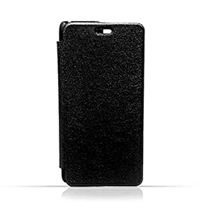 HTC MAX Black Frosted PU Leather Flip Cover