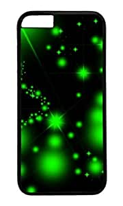 MOKSHOP Adorable Green starry Hard Case Protective Shell Cell Phone Cover For Apple Iphone 6 Plus (5.5 Inch) - PC Black