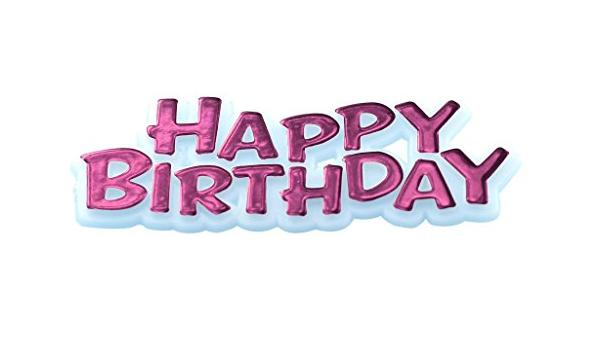 2.6-50 Pcs Creative Party M515 Metallic Gold Happy Birthday Cake Topper