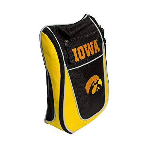Team Golf NCAA Iowa Hawkeyes Travel Golf Shoe Bag, Reduce Smells, Extra Pocket for Storage, Carry Handle - Iowa Golf Bag