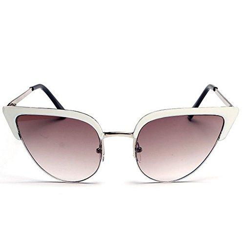 GUGGE Womens Personality Reflective Glasses Cateye - Reflex Julbo Sunglasses