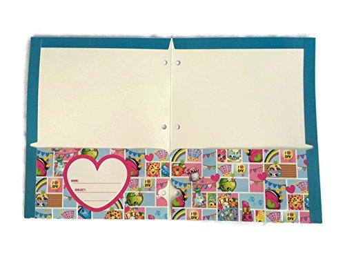 Shopkins Bundle of 4 School Portfolio Folders (2-Pocket) by Shopkins (Image #4)