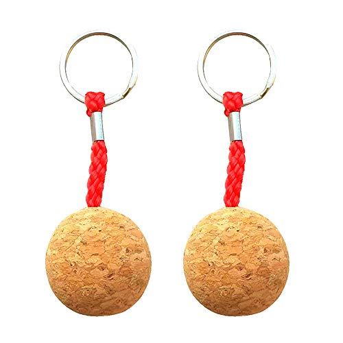 Cisco72 Floating Keychains for Boats 3.5cm Floating Cork Keyring Keychain Marine Sailing Boat Float Replacement Accessories