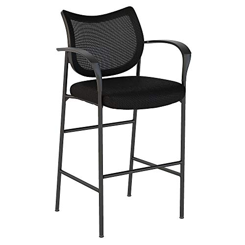 Bush Business Furniture Corporate Mesh Back Standing Desk Stool in Black