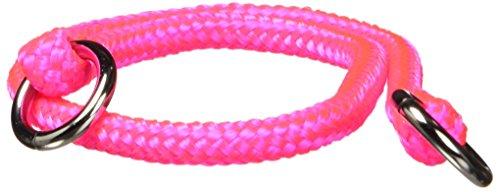 - Hamilton 825 HP 3/16-Inch by 14-Inch Round Braided Choke Nylon Dog Collar, Hot Pink
