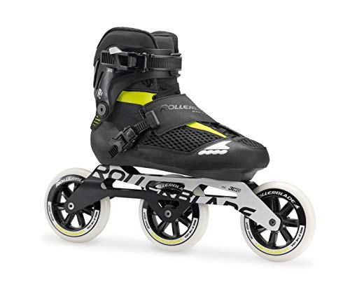 Rollerblade Men's Endurace Elite 110 Fitness Inline Skate, Black/Lime, Size 10.5 (Elite In Line Skates)