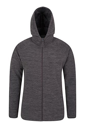 Mountain Warehouse Snowdon Mens Hoodie - Breathable Spring Jacket Charcoal XX-Large