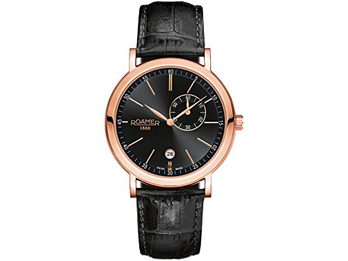 Roamer Men's Quartz Watch VANGUARD 934950 RGL1 with Leather Strap